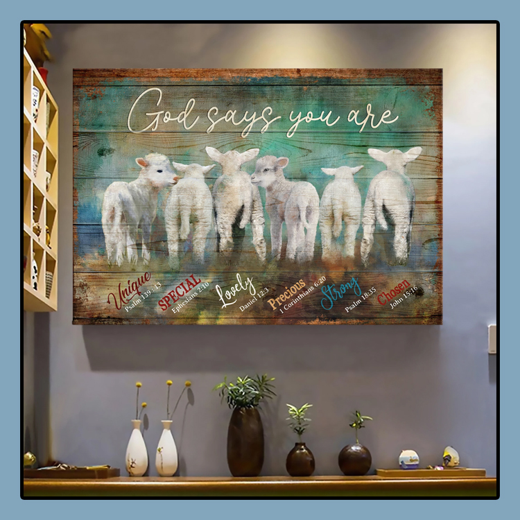 Lambs God says you are Jesus Landscape Canvas Print Wall Art1