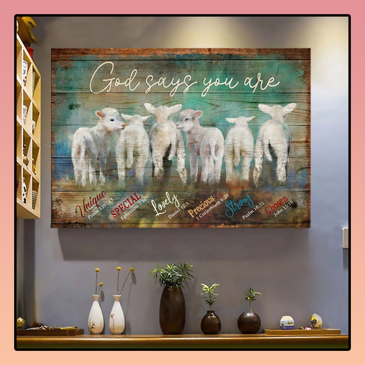Lambs God says you are Jesus Landscape Canvas Print Wall Art3
