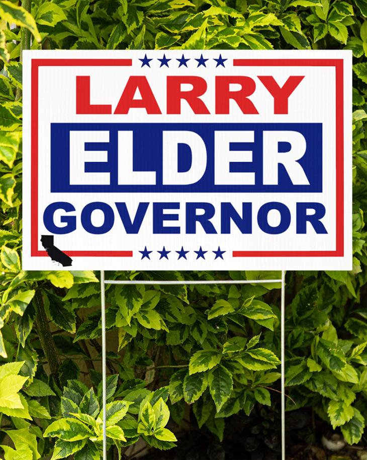Larry Elder Governor Yard Sign2