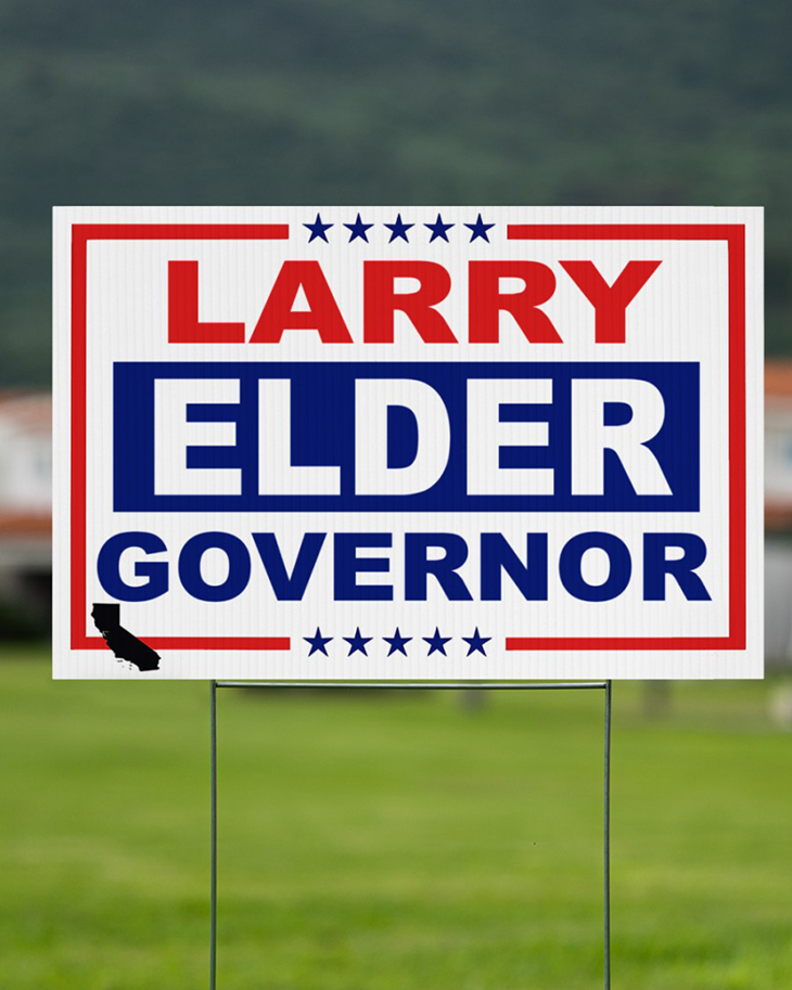 Larry Elder Governor Yard Sign3