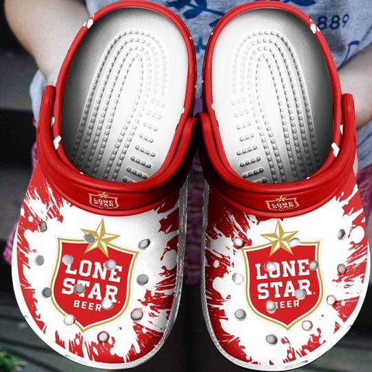 Lone Star Beer Crocs Crocband Shoes