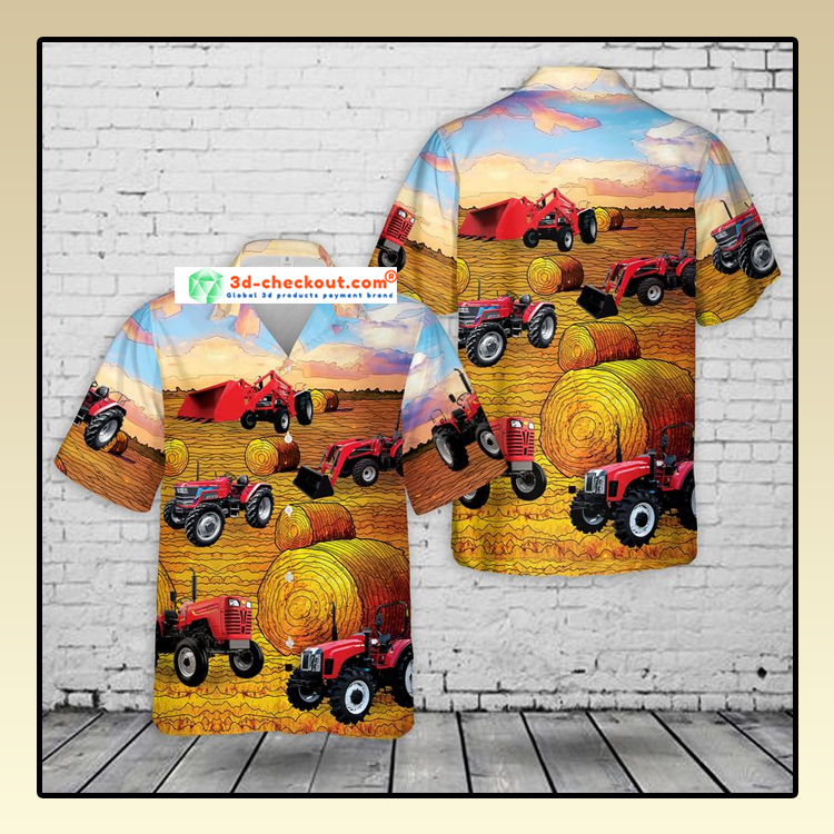 Mahindra Tractors USA Hawaiian Shirt