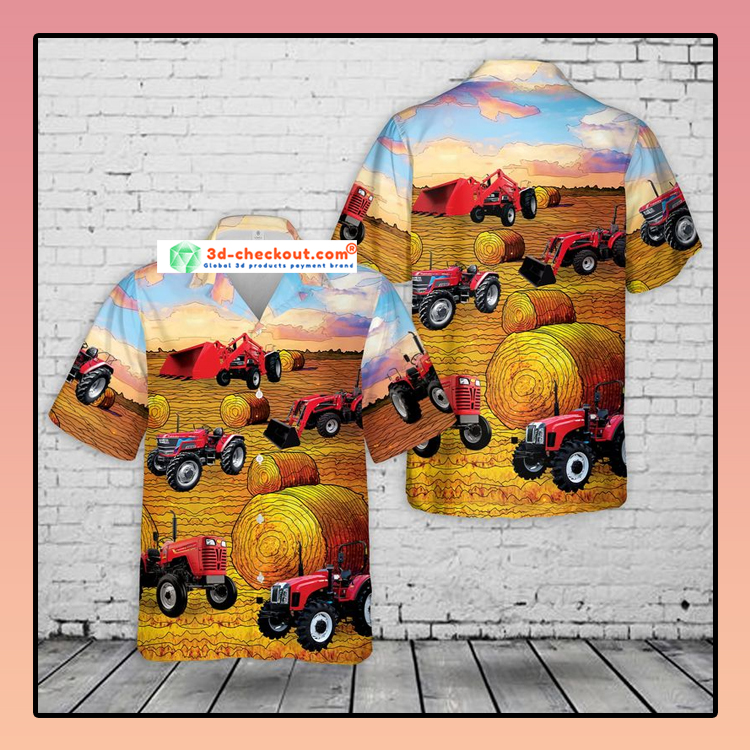 Mahindra Tractors USA Hawaiian Shirt3