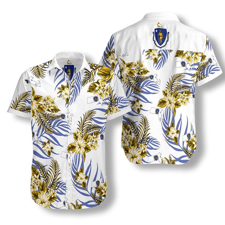 Massachusetts Proud Hawaiian Shirt 2