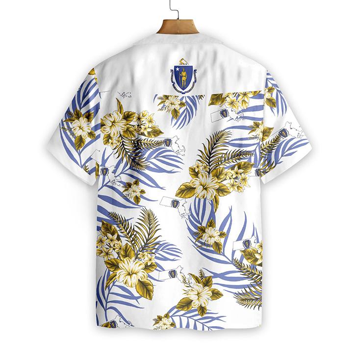 Massachusetts Proud Hawaiian Shirt 3