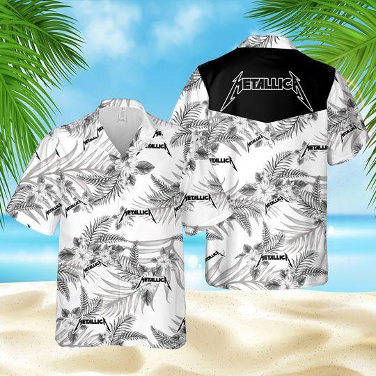 Metallic fans Hawaiian Shirt and short