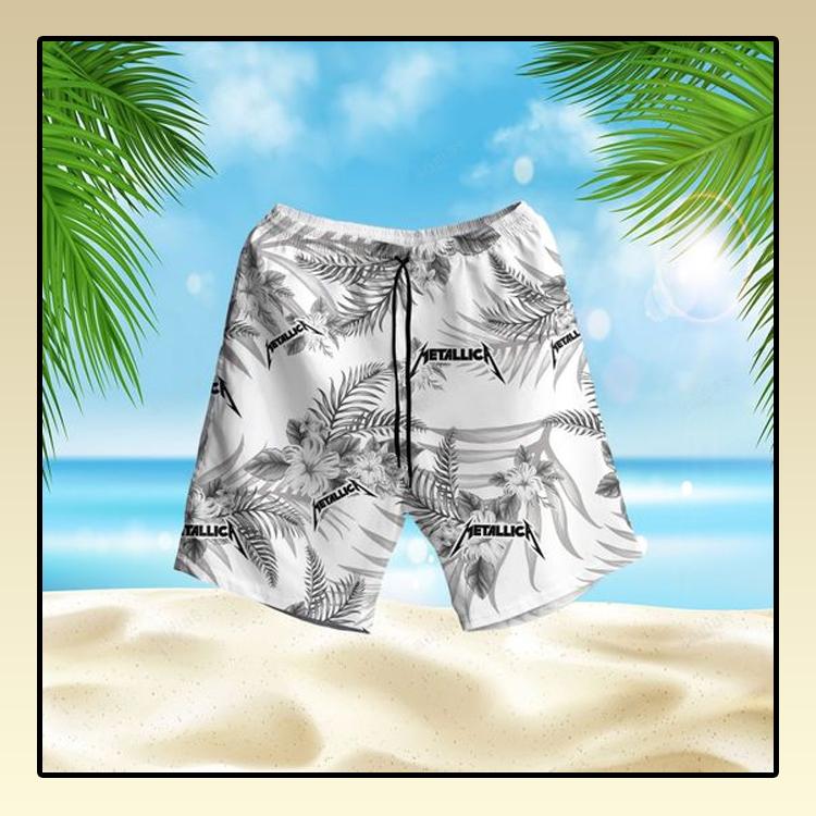 Metallic fans Hawaiian Shirt and short2
