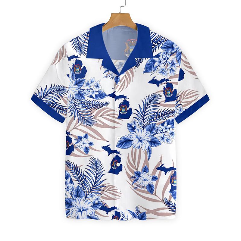 Michigan Proud Hawaiian Shirt