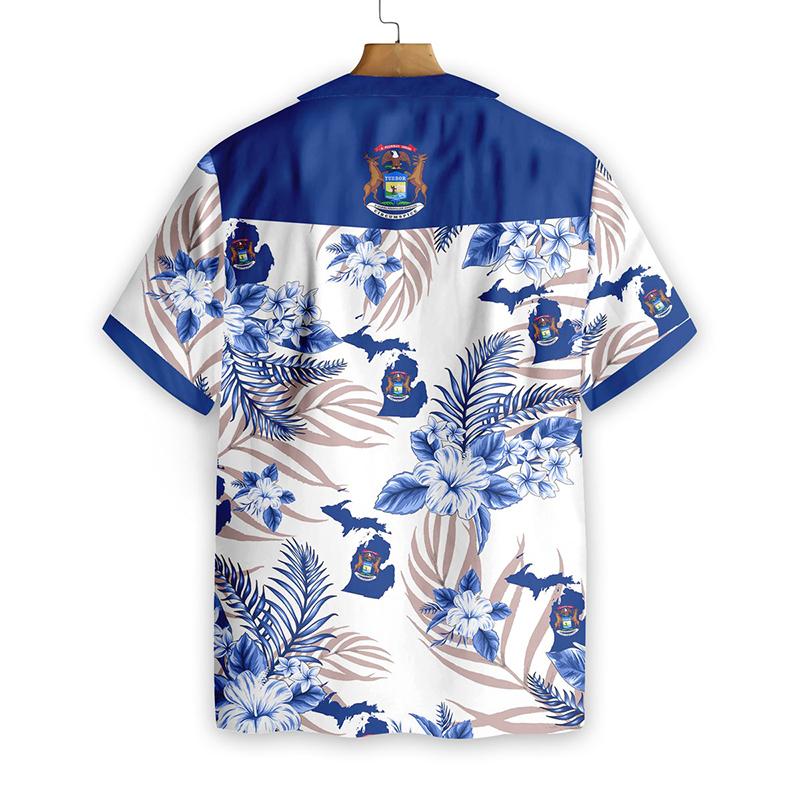 Michigan Proud Hawaiian Shirt1