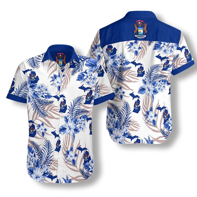Michigan Proud Hawaiian Shirt2