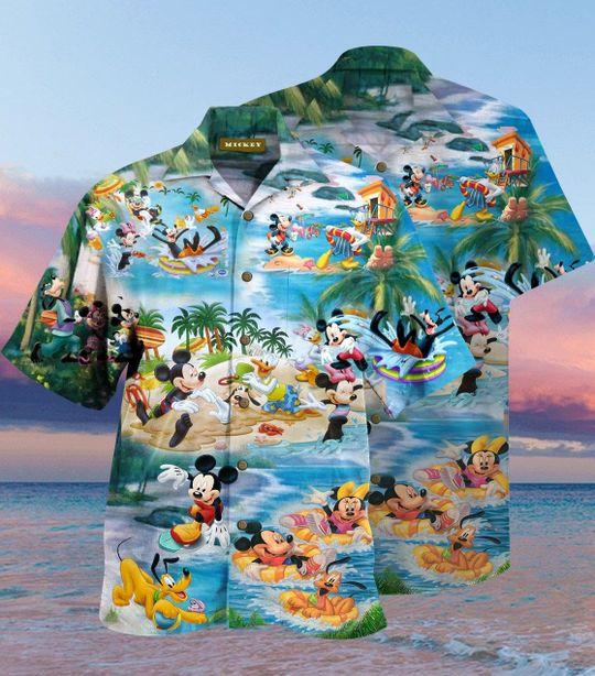 Mickey Mouse Beach Picnic Hawaiian Shirt
