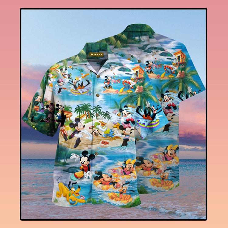 Mickey Mouse Beach Picnic Hawaiian Shirt2