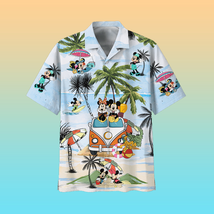 Mickey Mouse Summer Hawaiian Shirt3