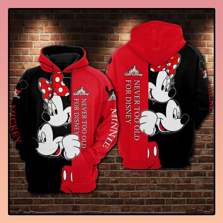 Mickey and Minnie never too old for Disney 3d hoodie