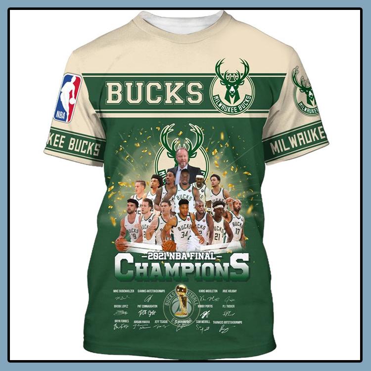 Milwaukee Bucks 2021 NBA Final Champions T Shirt4
