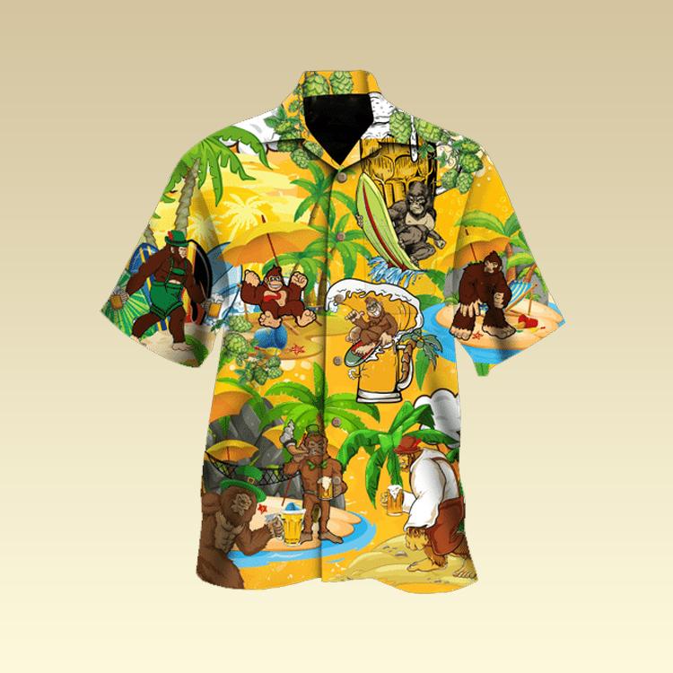 Monkey beer surfing hawaiian shirt3