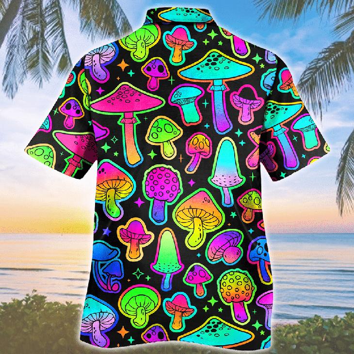 Mushroom Colorful Pattern Hawaiian Shirt2