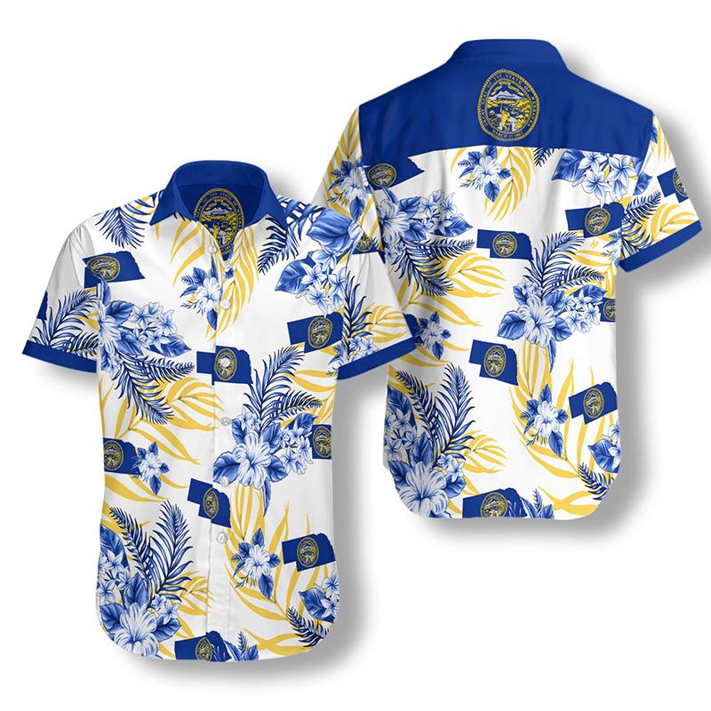 Nebraska Proud Proud Hawaiian Shirt2