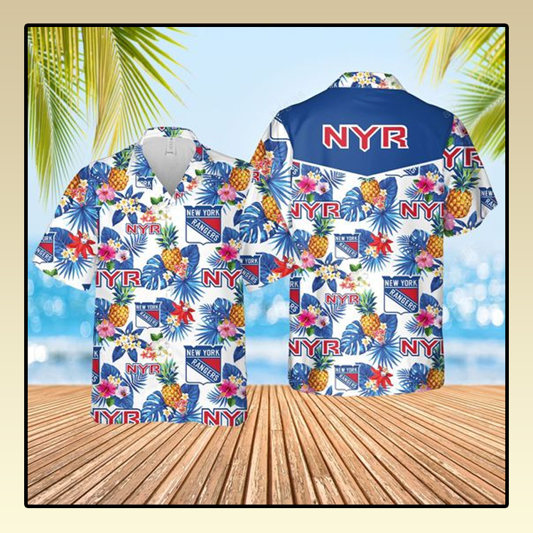 New York Ranger Hawaiian Shirt and short1