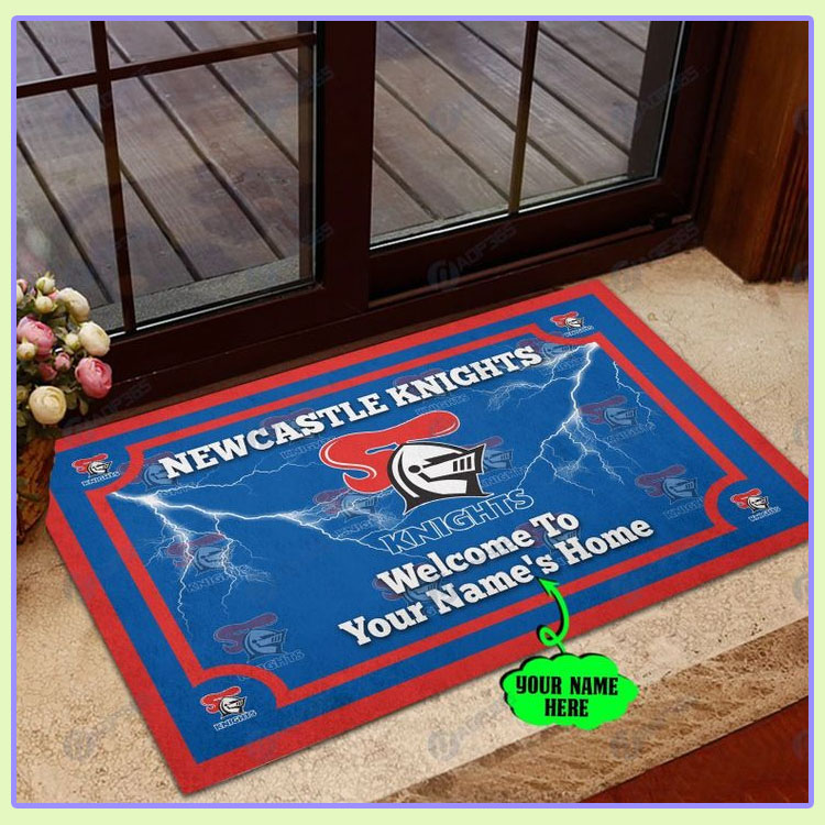 Newcastle Knights Personalized welcome to home Doormat1