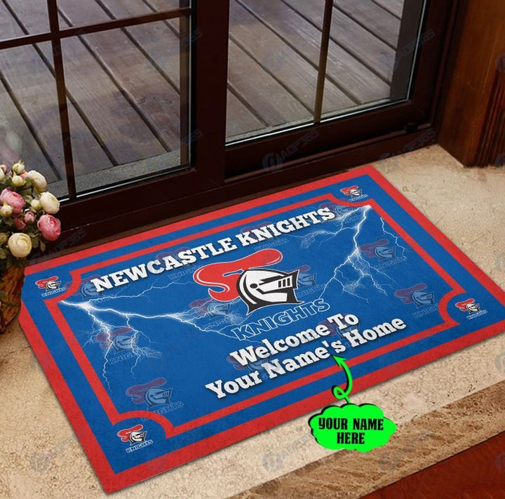 Newcastle Knights welcome to home custom name doormat