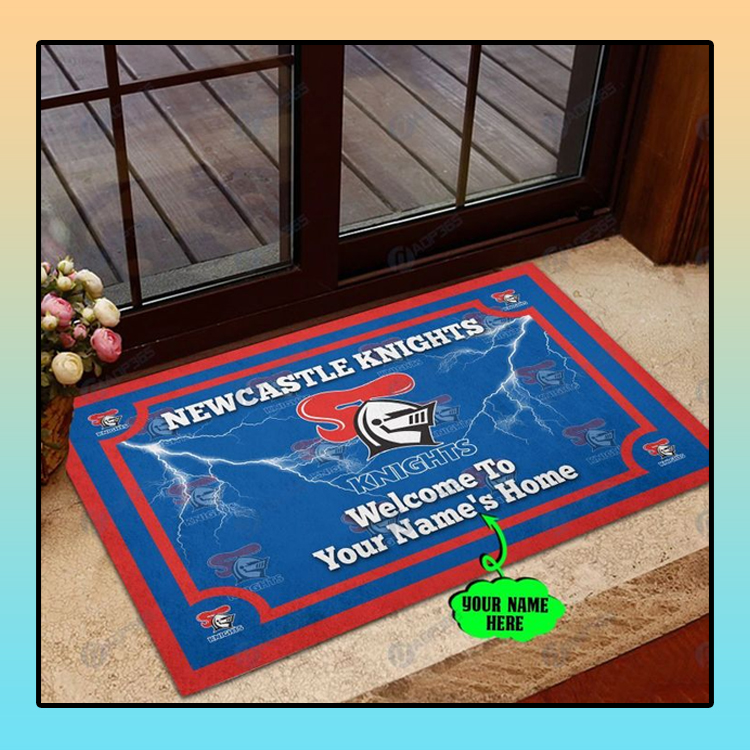 Newcastle Knights welcome to home custom name doormat3