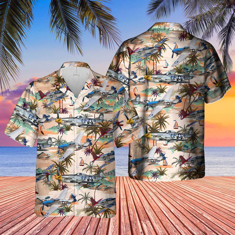 North American P 51 Mustang Hawaiian Shirt