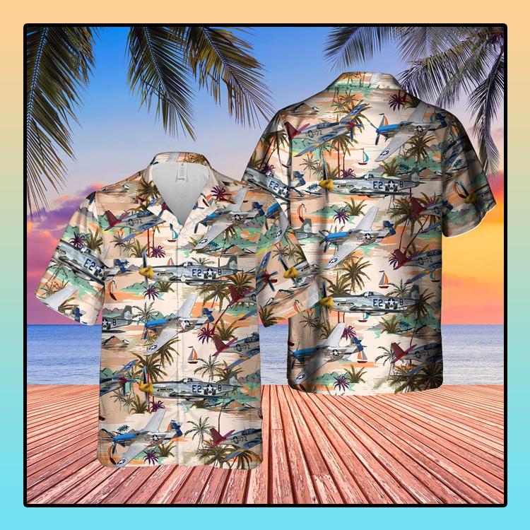 North American P 51 Mustang Hawaiian Shirt3 1