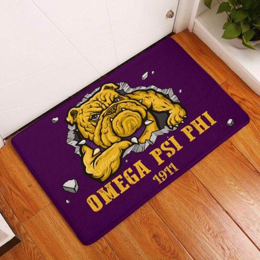 Omega Psi Phi 1911 Bulldog Doormat