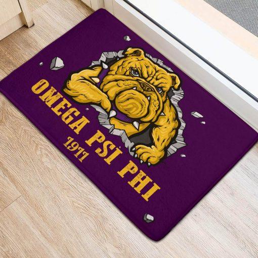 Omega Psi Phi 1911 Bulldog Doormat2