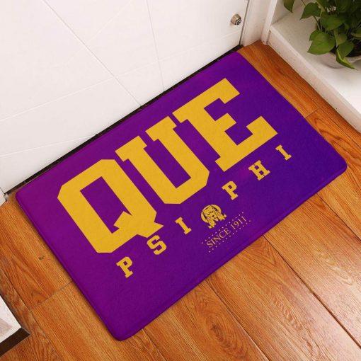 Omega Psi Phi Since 1911 Que Psi Phi Doormat