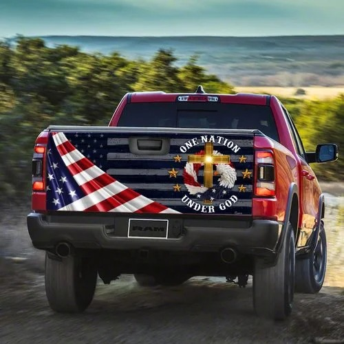 One Nation Under God Truck Tailgate Decal Sticker Wrap Decal1 1