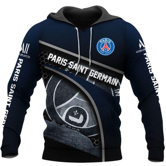 Paris Saint Germain 3d all over print Hoodie1