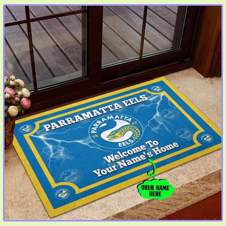 Parramatta Eels Personalized welcome to home Doormat1