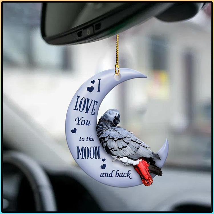 Parrot I Love You To The Moon And Back Ornament1