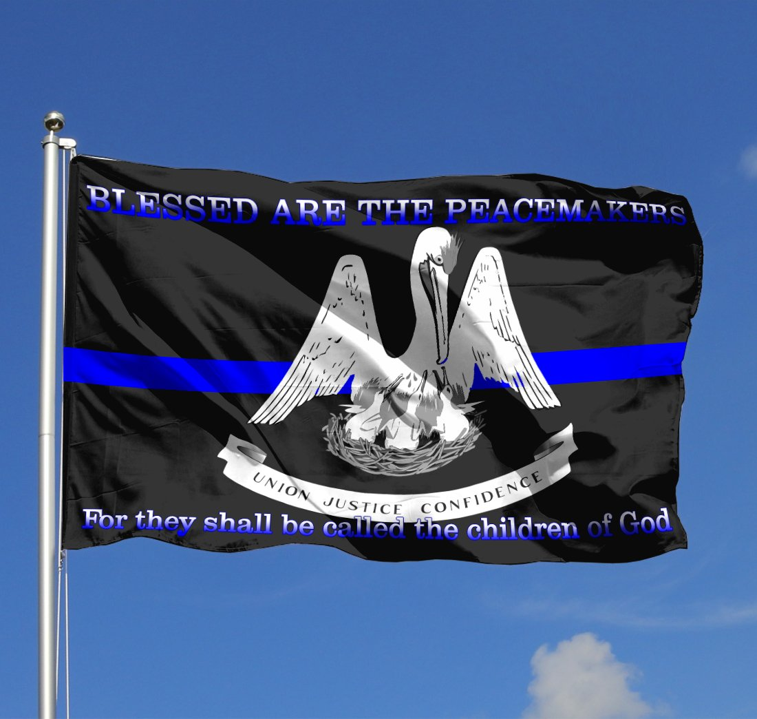 Pelican Blessed Are The Peacemakers For They Shall Be Called The Children Of God Flag