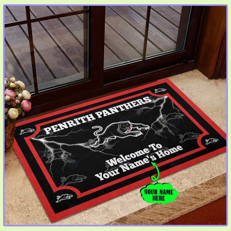 Penrith Panthers Personalized welcome to home Doormat1