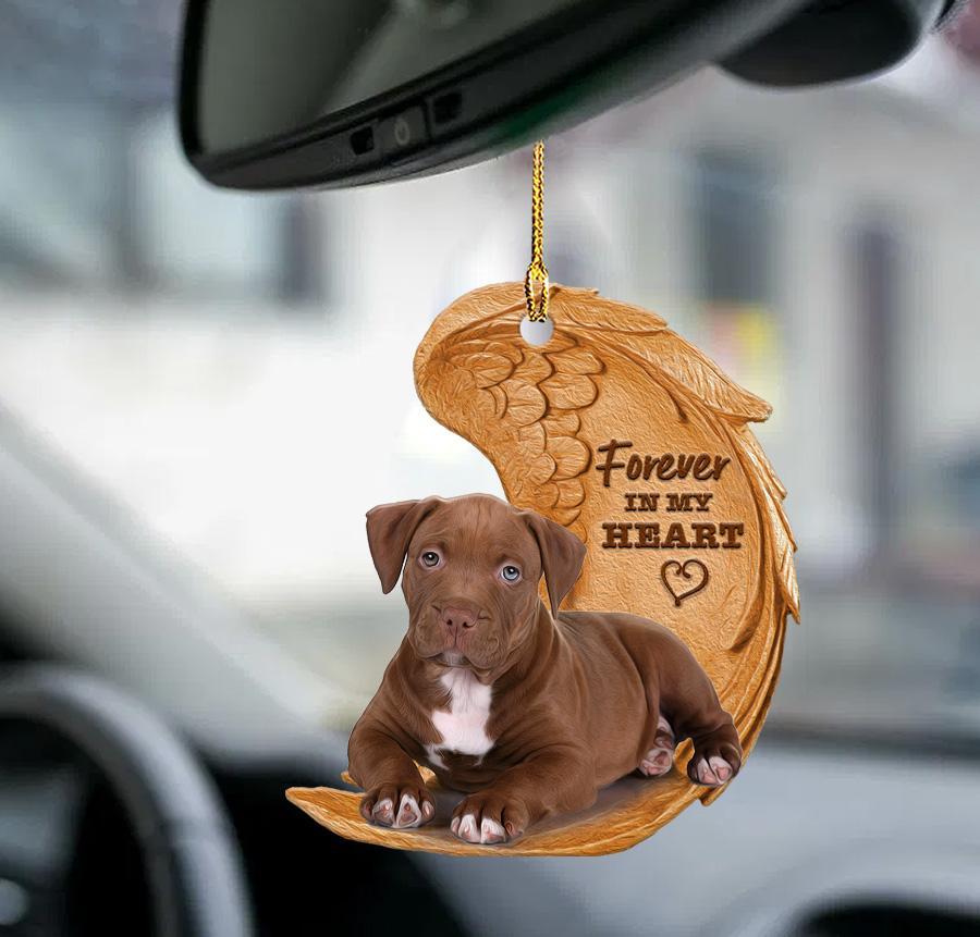 Pitbull Forever In My Heart Ornament