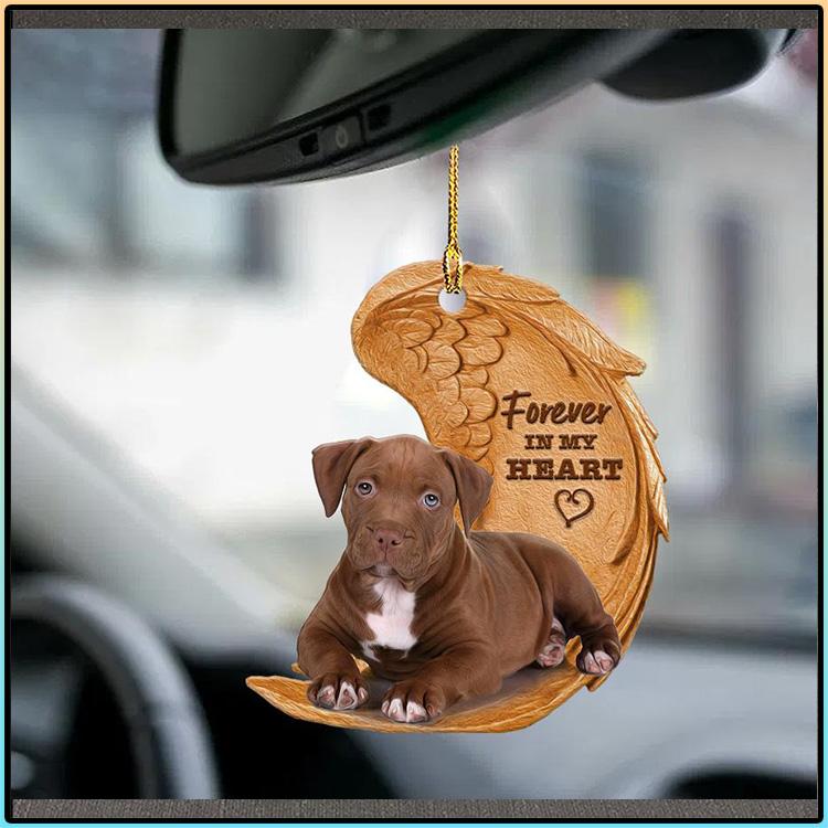 Pitbull Forever In My Heart Ornament2