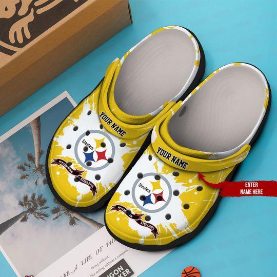 Pittsburgh Steelers custom name crocs crocband clog 1