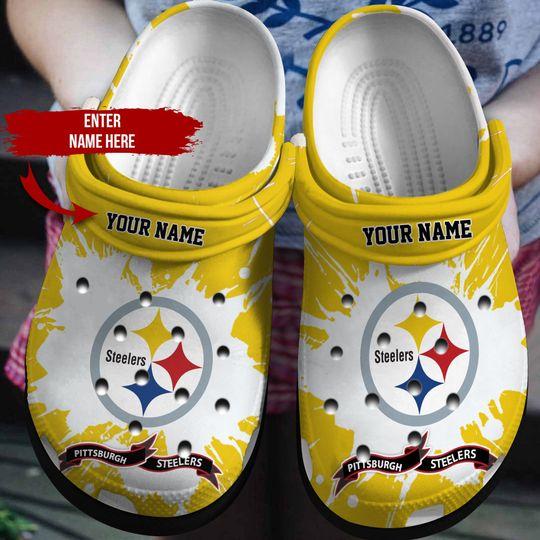 Pittsburgh Steelers custom name crocs crocband clog 2