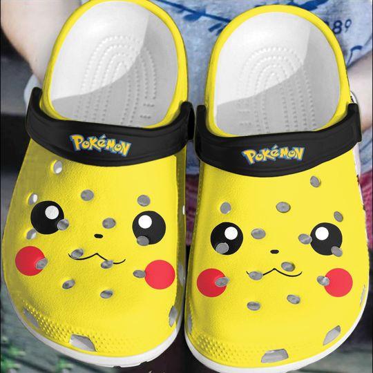 Pokemon Pikachu crocs log crocband