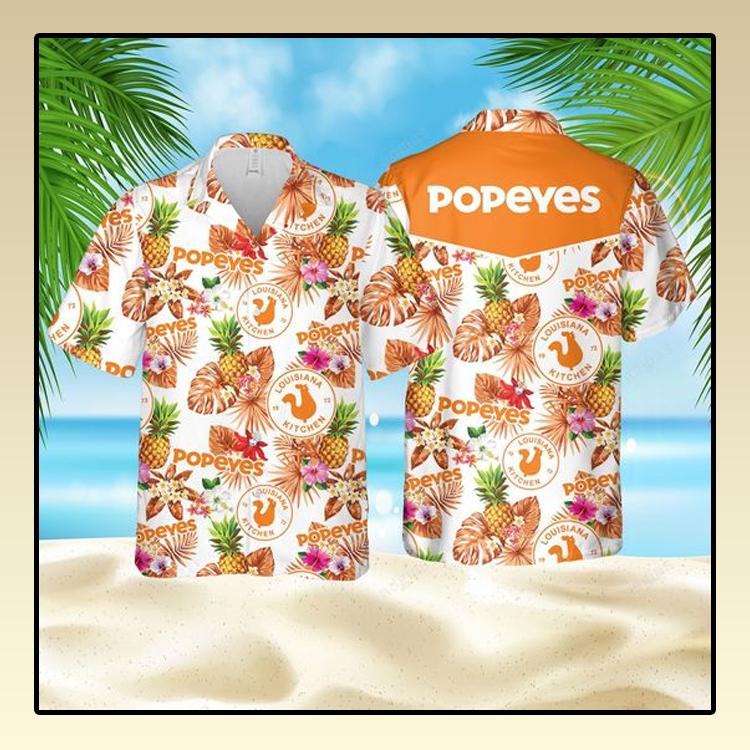 Popeyes pineapple kitchen Hawaiian Shirt and short1