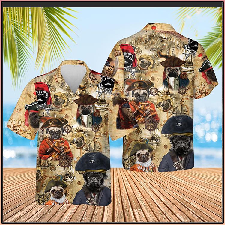 Pug Pirate Cute Hawaiian Hawaii Shirt3 1