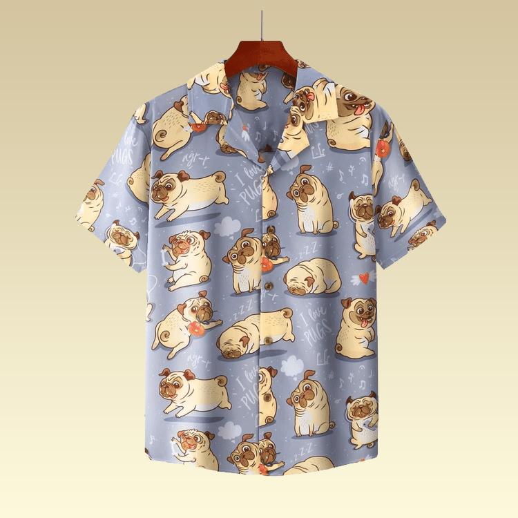 Pugs cute hawaiian shirt3