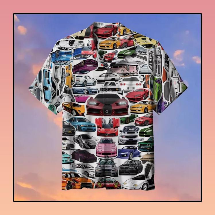 Racing Car Hawaiian Shirt