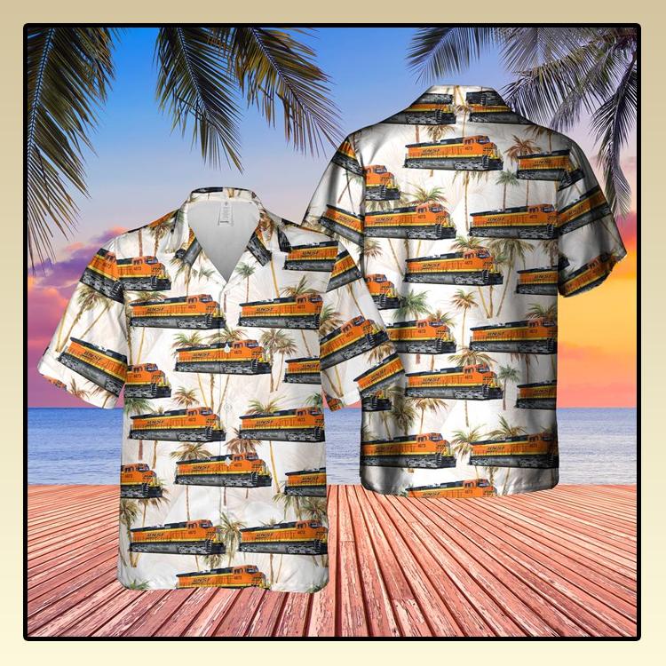 Railway GE Dash 9 44CW Locomotive Hawaiian Shirt3
