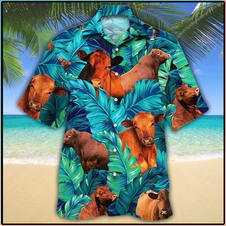 Red Angus Cattle Lovers Hawaiian Shirt3