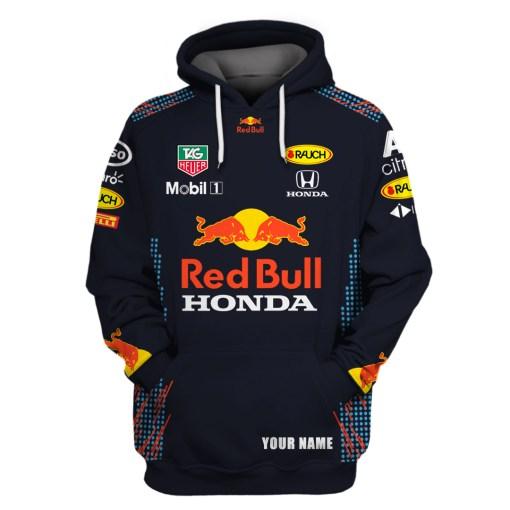 Red Bull Honda Custom Name 3d all over print Hoodie1