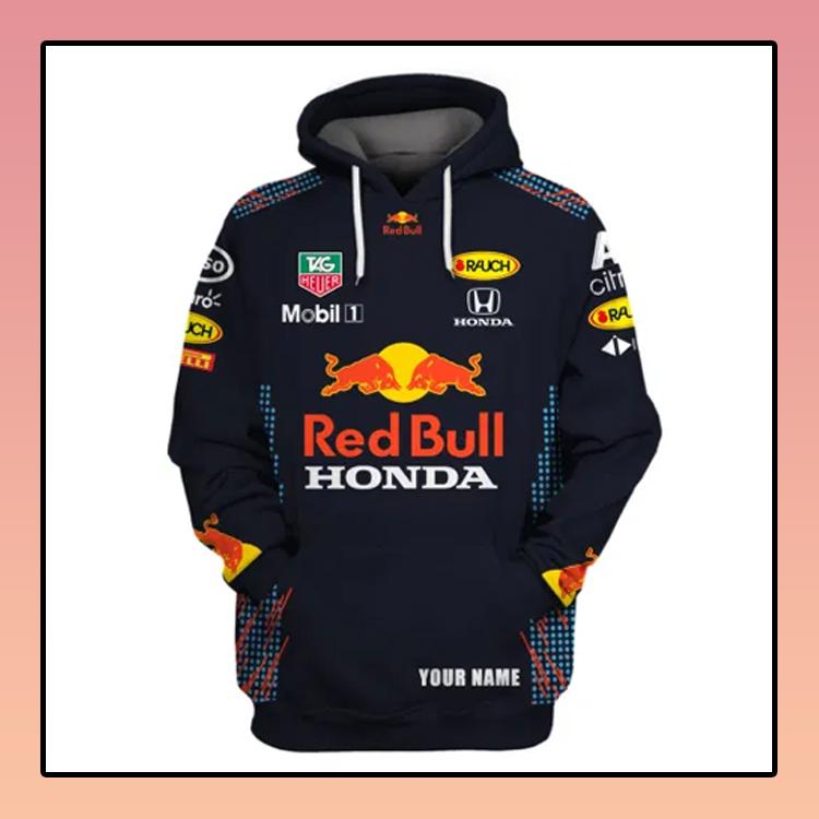 Red Bull Honda Custom Name 3d all over print Hoodie3